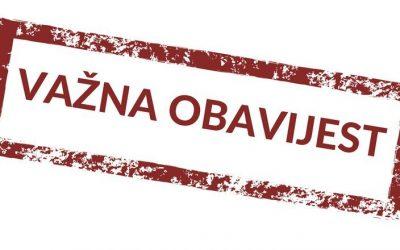 Važna obavijest za učenike Ekonomske i trgovačke škole Čakovec