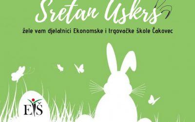 Sretan Uskrs žele vam djelatnici Ekonomske i trgovačke škole Čakovec