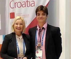 POHVALNICA za osvojeno 1. mjesto na Državnom natjecanju učenika strukovnih škola – WorldSkills Croatia 2021., u natjecateljskoj disciplini Poslovanje turističke agencije za LUKU GREGURA